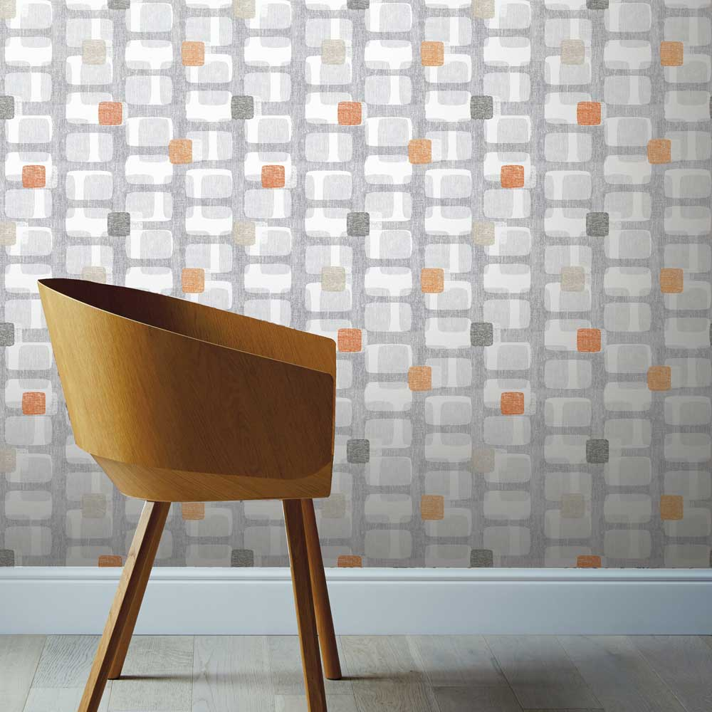 Arthouse Retro Block Orange Wallpaper - Product code: 902307