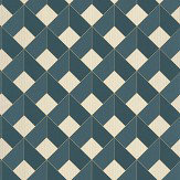 Caselio Square Teal / Gold Wallpaper - Product code: 100126062