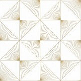 Caselio Lines White / Gold Wallpaper - Product code: 100130020