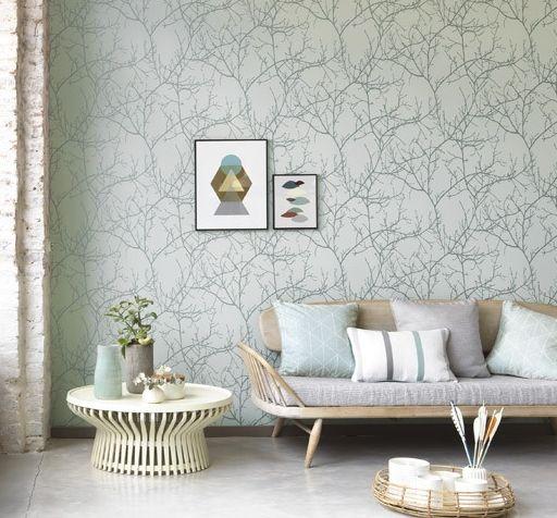 Arbre Wallpaper - Grey - by Casadeco