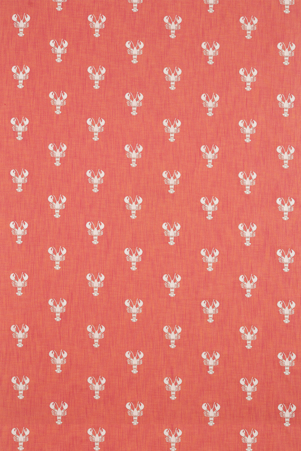 Cromer Embroidery Fabric - Coral - by Sanderson