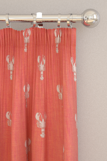 Sanderson Cromer Embroidery Coral Curtains - Product code: 236677