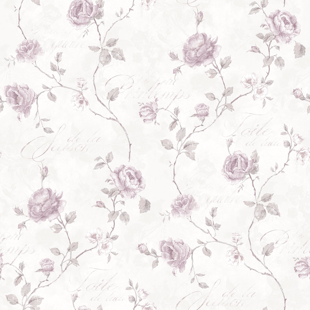 Galerie French Rose Trail Light Pink Wallpaper Main Image
