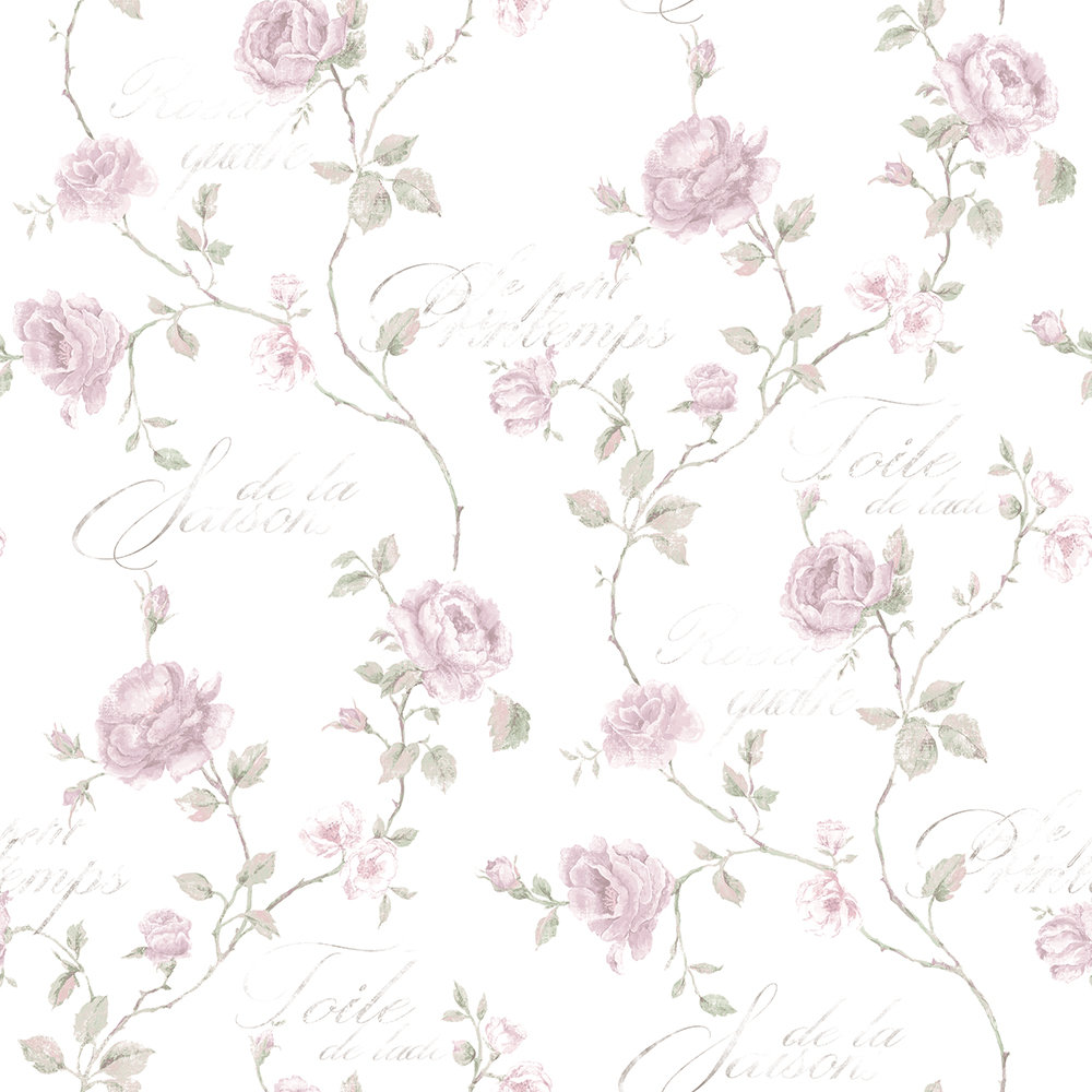 French Rose Trail By Galerie Natural Wallpaper G45329