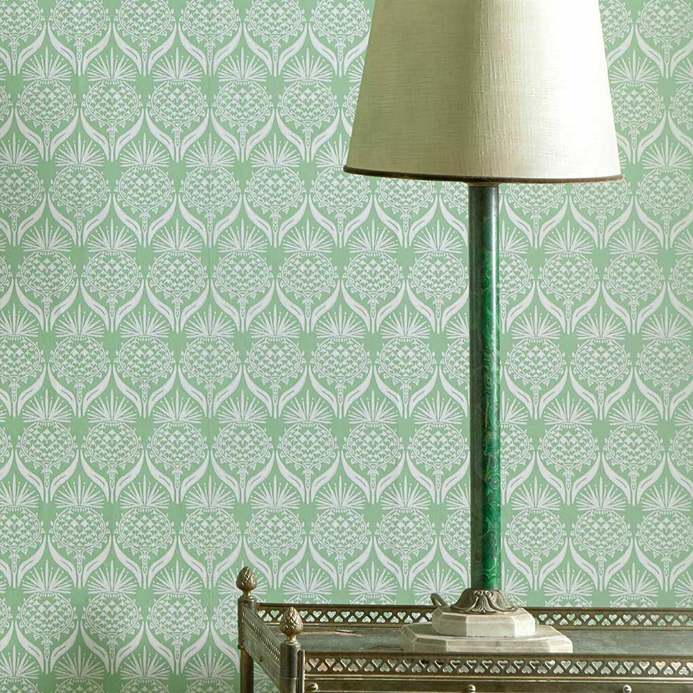 Barneby Gates Artichoke Thistle Spring Green Wallpaper - Product code: BG1900202