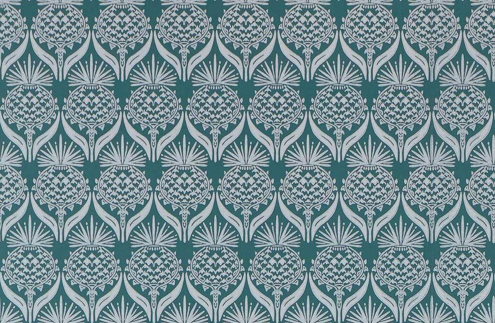 Barneby Gates Artichoke Thistle Teal Wallpaper - Product code: BG1900201