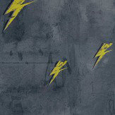 Barneby Gates Bolt from Mars Yellow / Charcoal Wallpaper