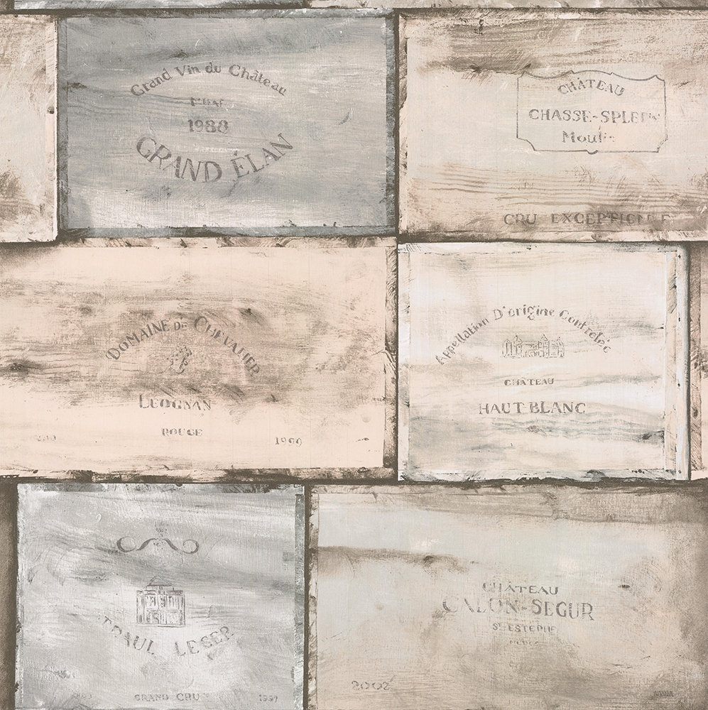 Galerie Wine Crates Blue-green Wallpaper - Product code: CK36613
