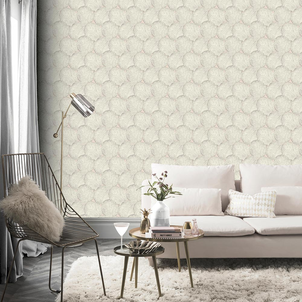 Beech Leaf Wallpaper - Blush - by Arthouse