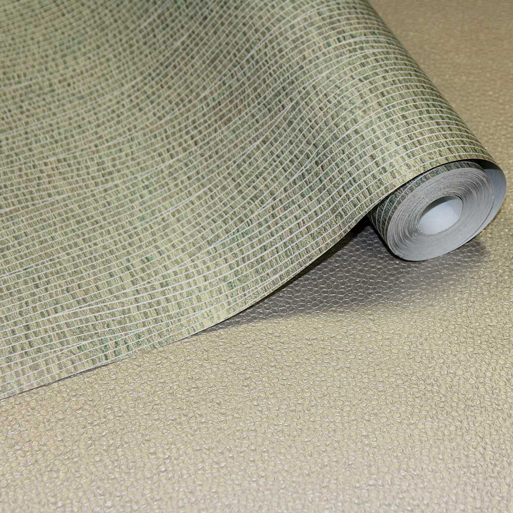 Fossil Wallpaper - Sage Green - by Arthouse