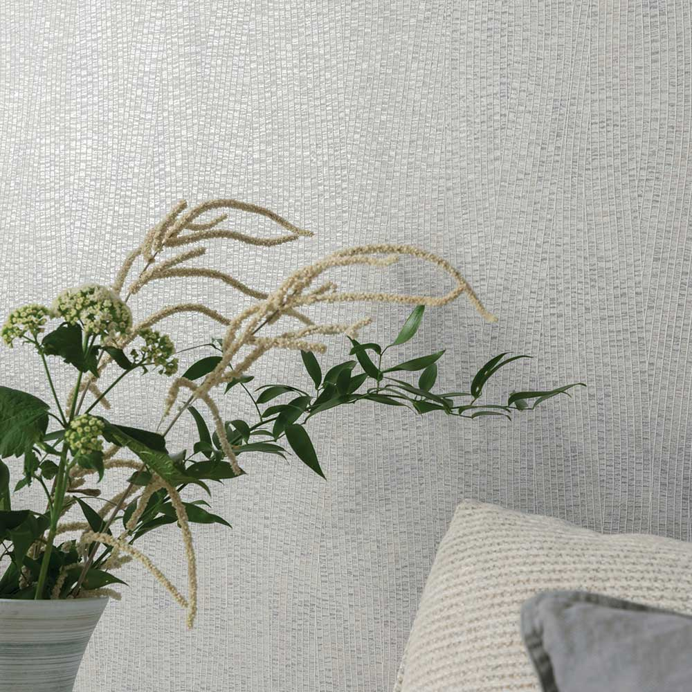 Fossil Wallpaper - Silver - by Arthouse