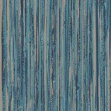 Albany Vertical Grasscloth Effect Blue and Copper Wallpaper