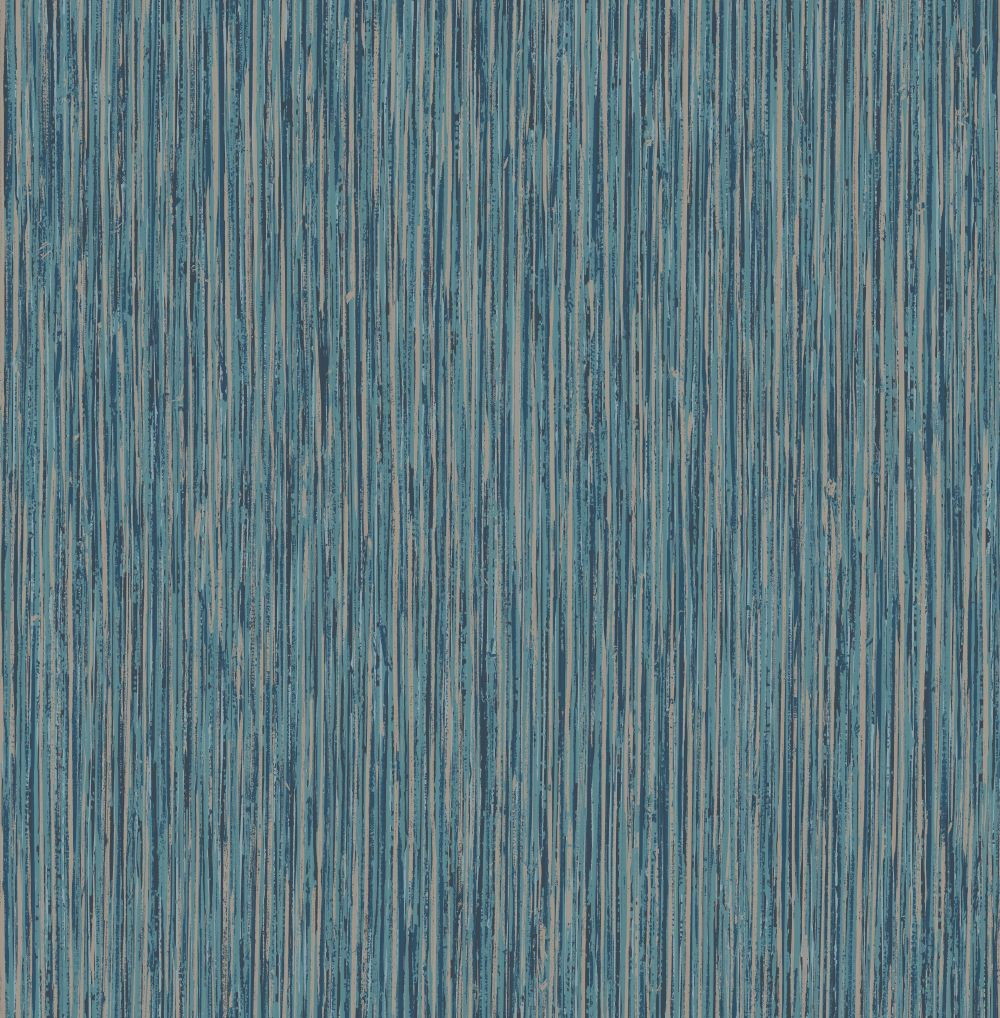 Albany Vertical Grasscloth Effect Blue and Copper Wallpaper - Product code: CB41001