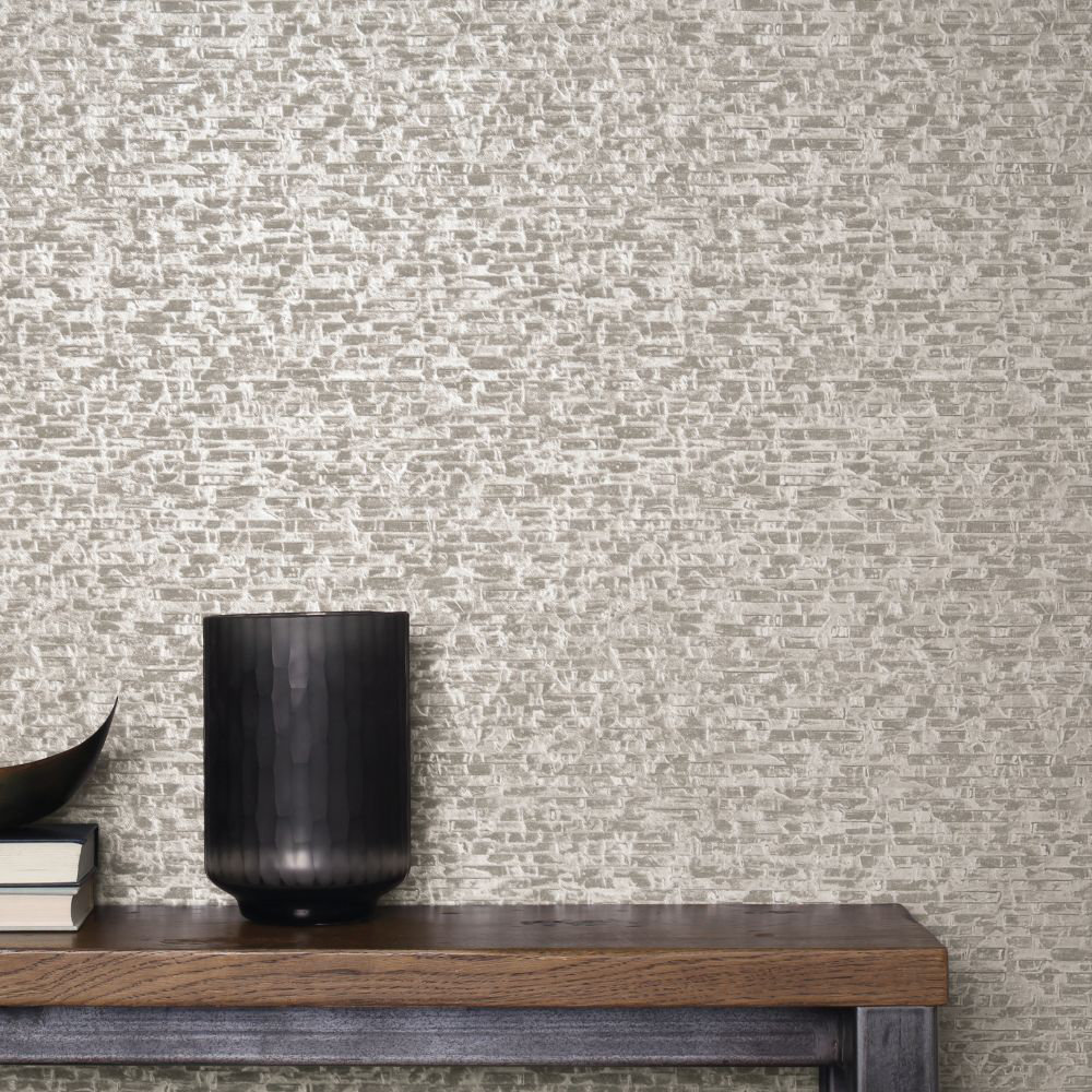 Albany Small Bricks Grey Wallpaper - Product code: CB41002