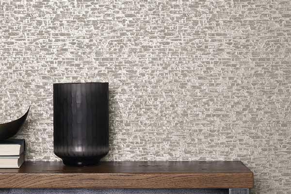 Albany Small Bricks Grey Wallpaper
