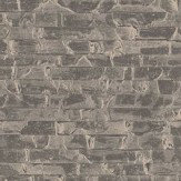 Albany Small Bricks Gold and Charcoal Wallpaper - Product code: CB41019