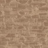Albany Small Bricks Copper Wallpaper