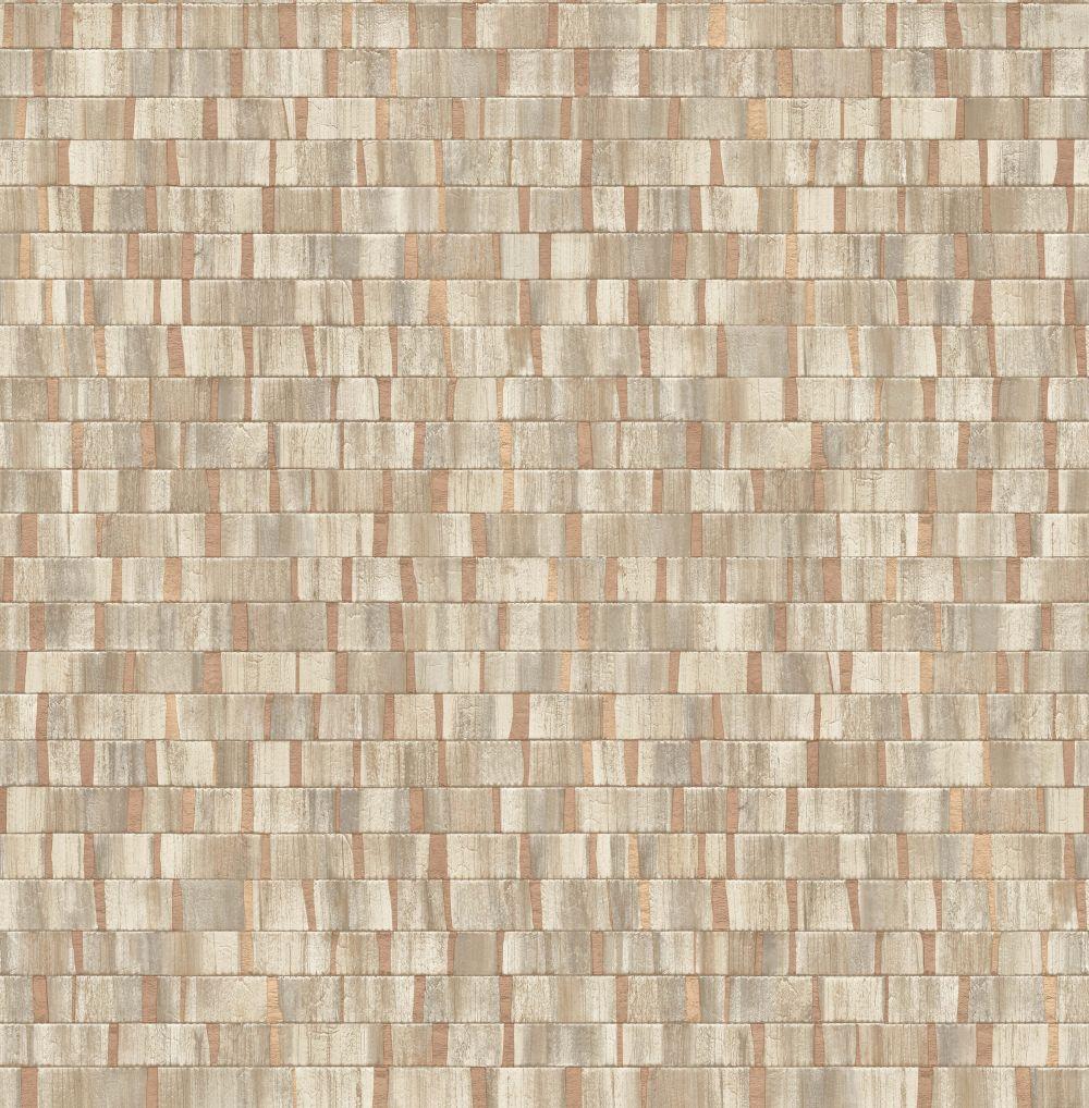 Albany Small Metallic Wood Copper Wallpaper - Product code: CB41025