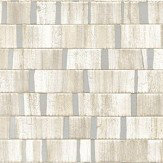 Albany Small Metallic Wood Soft Natural and Silver Wallpaper