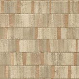 Albany Small Metallic Wood Natural and Copper Wallpaper