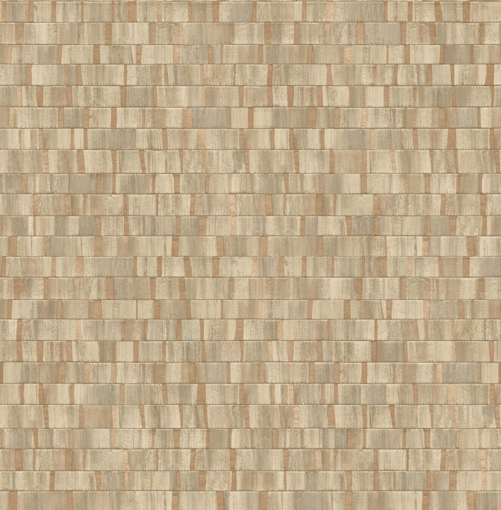 Albany Small Metallic Wood Natural and Copper Wallpaper - Product code: CB41027
