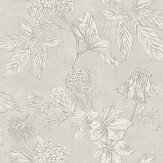Arthouse Botanic Silver Wallpaper