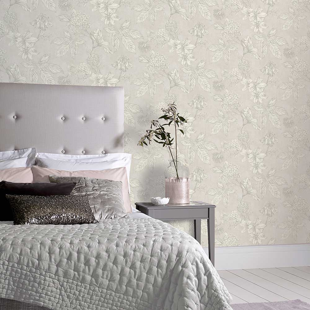 Arthouse Botanic Silver Wallpaper - Product code: 902702