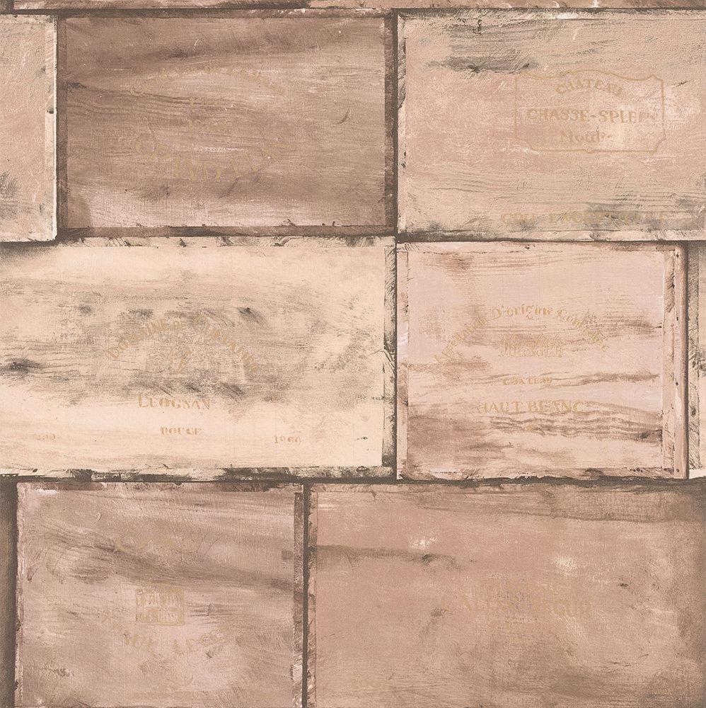 Galerie Wine Crates Rose / Sepia wash Wallpaper - Product code: CK36614