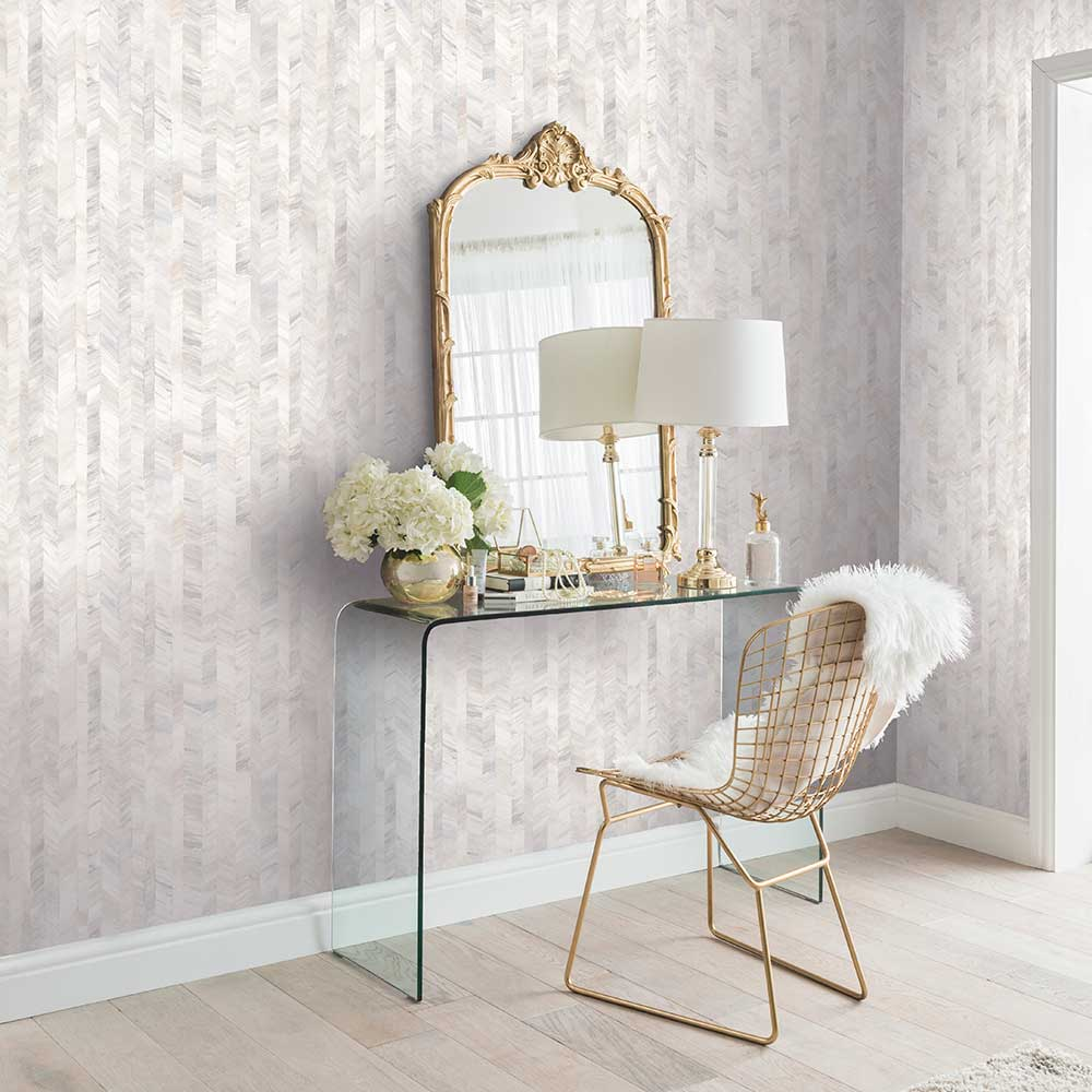 Textured Stripe Wallpaper - White - by Arthouse