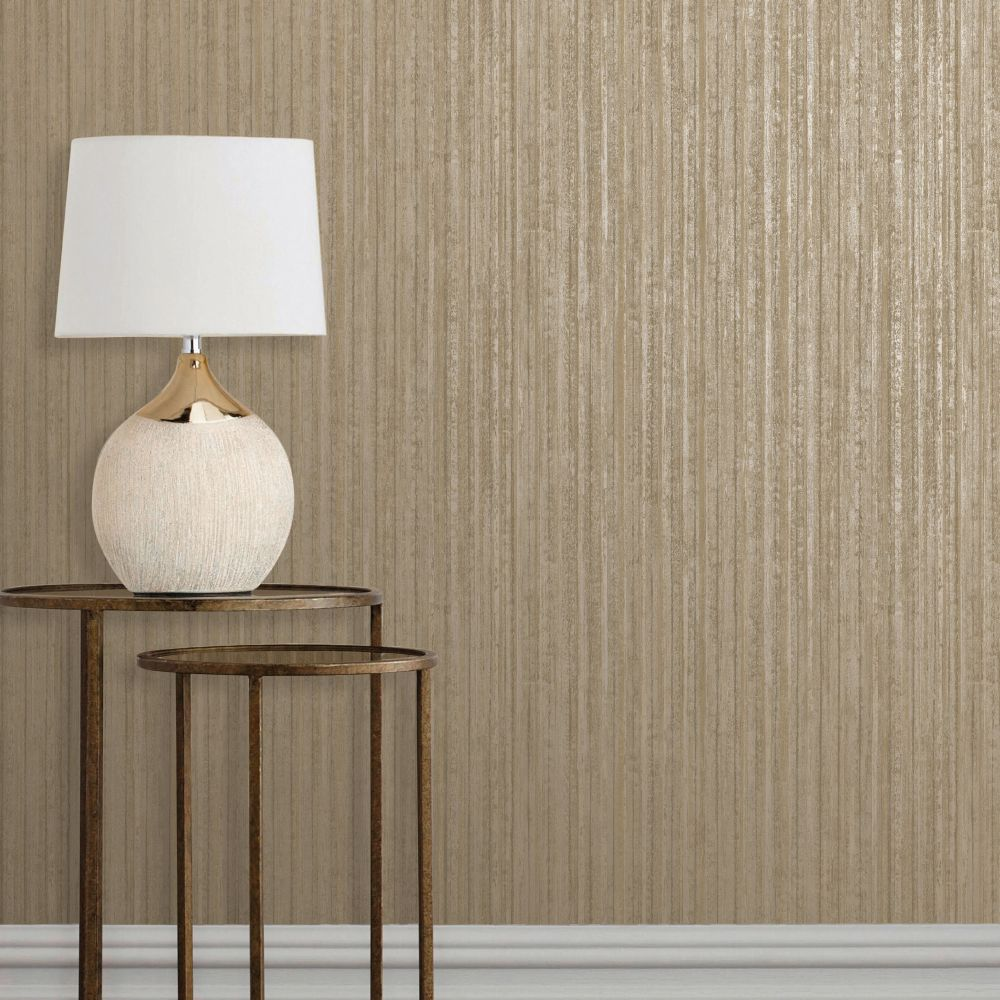 Albany Vertical Metal Gilver Wallpaper - Product code: CB41030