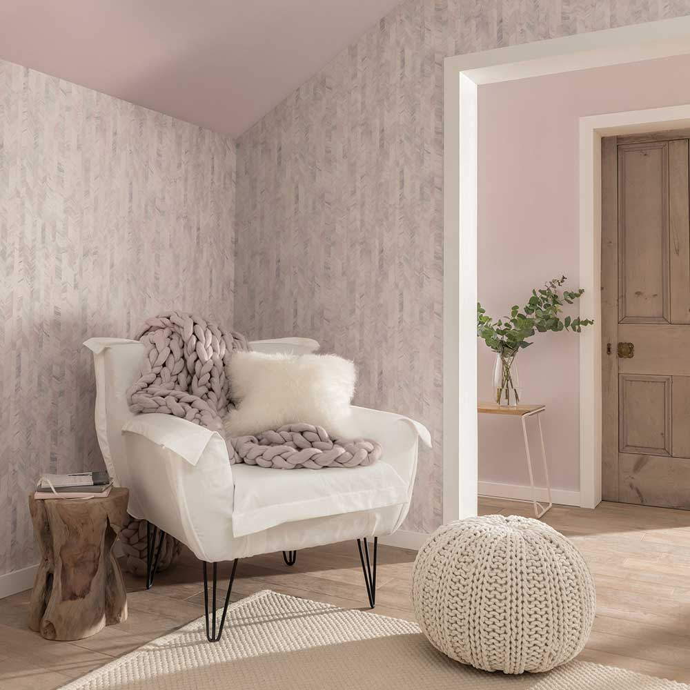 Textured Stripe Wallpaper - Pastel - by Arthouse