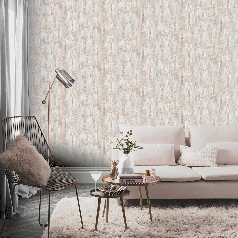 Arthouse Textured Stripe Pastel Wallpaper - Product code: 902602