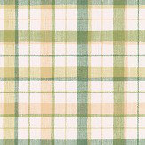 Galerie Country Check Green / Caramel Wallpaper