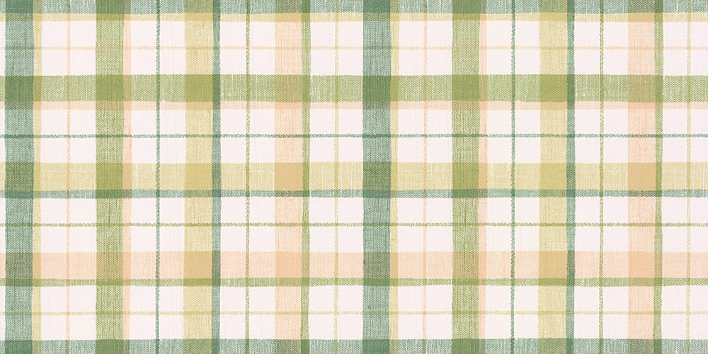 Galerie Country Check Green / Caramel Wallpaper - Product code: CK36626