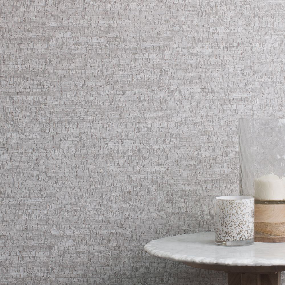 Small Cork Wallpaper - Grey - by Albany