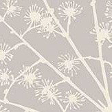 Arthouse Catkin White Silver Wallpaper