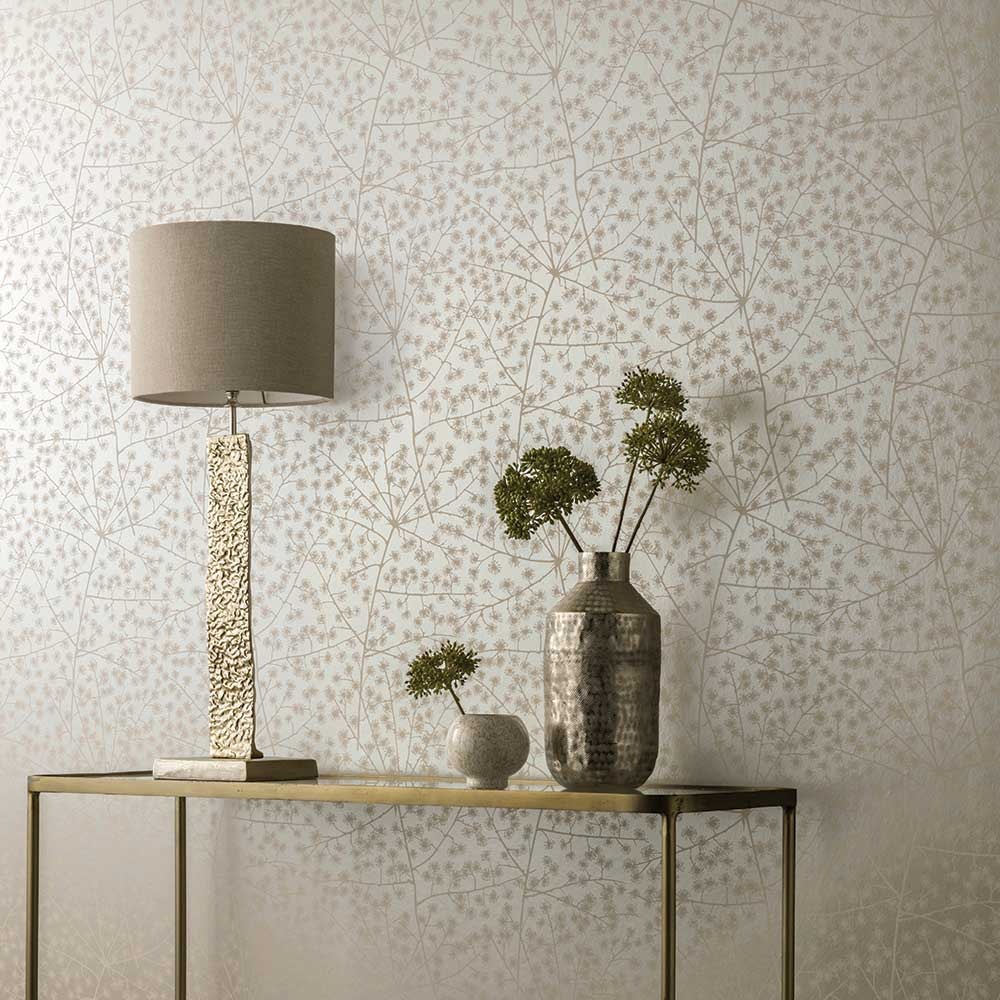 Arthouse Catkin Almond Gold Wallpaper - Product code: 902605