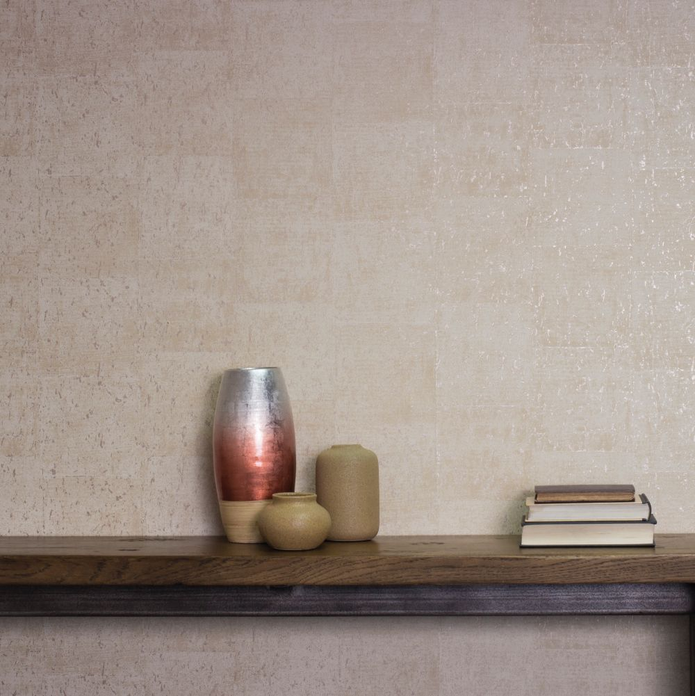 Albany Large Cork Cream Wallpaper - Product code: CB41047