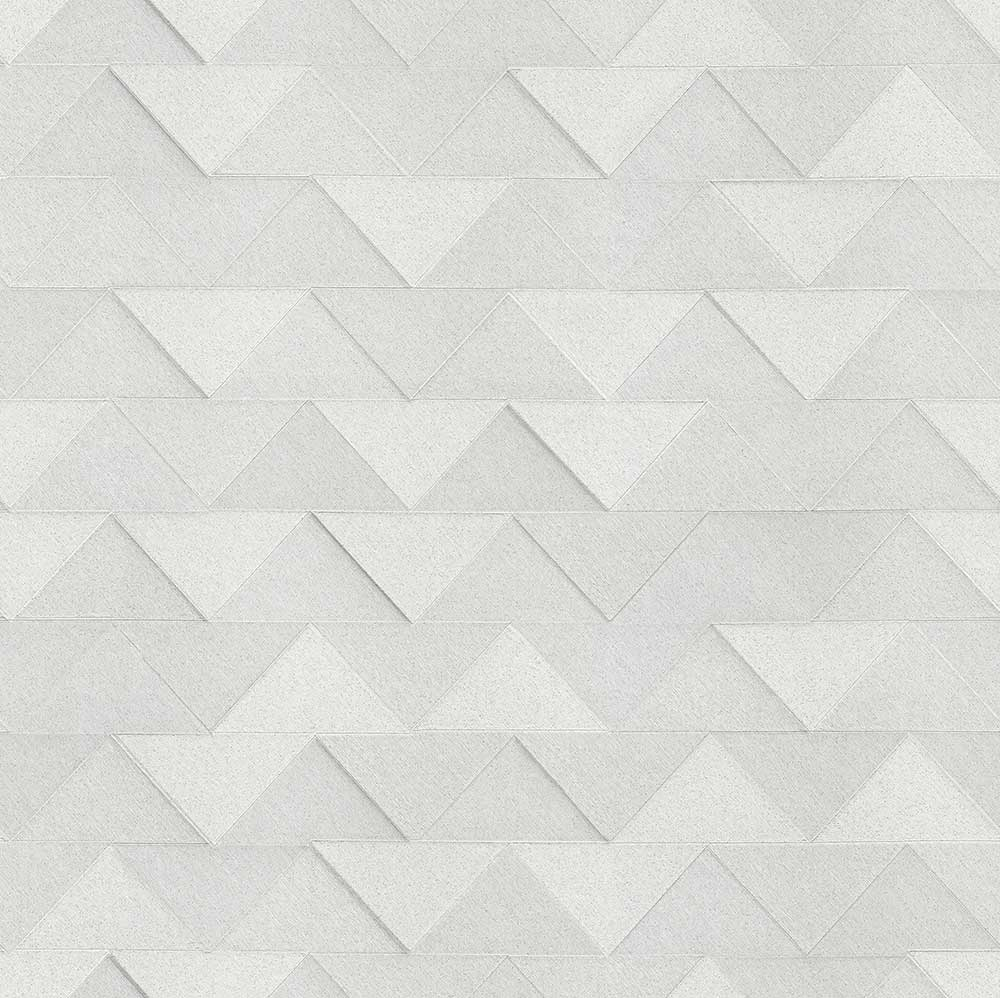 Albany Triangle Silver Wallpaper - Product code: C88608