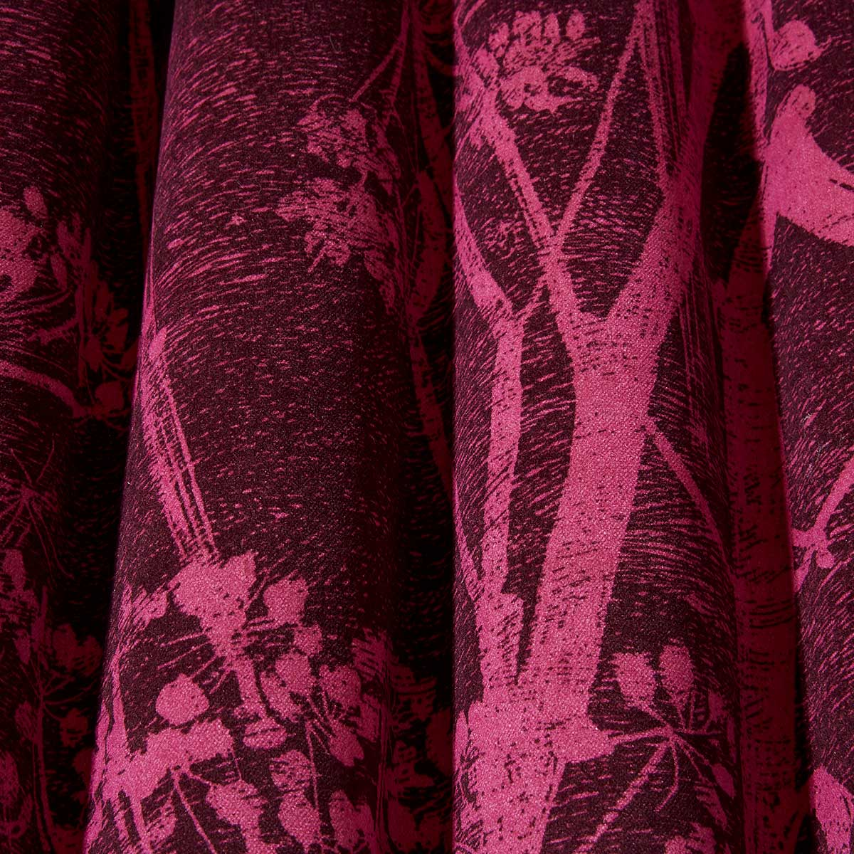 Cow Parsley Fabric - Magenta - by Cole & Son