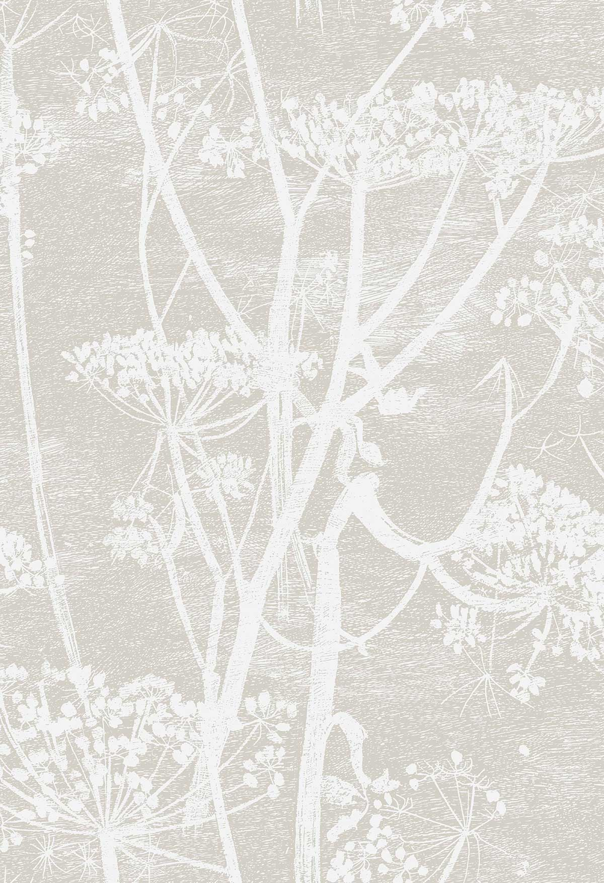 Cole & Son Cow Parsley Taupe Fabric - Product code: F111/5019
