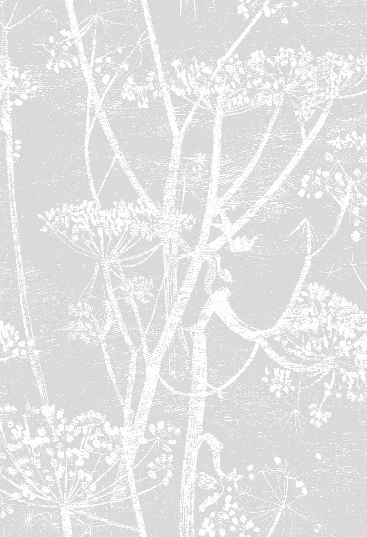 Cole & Son Cow Parsley Soft Grey Fabric - Product code: F111/5021