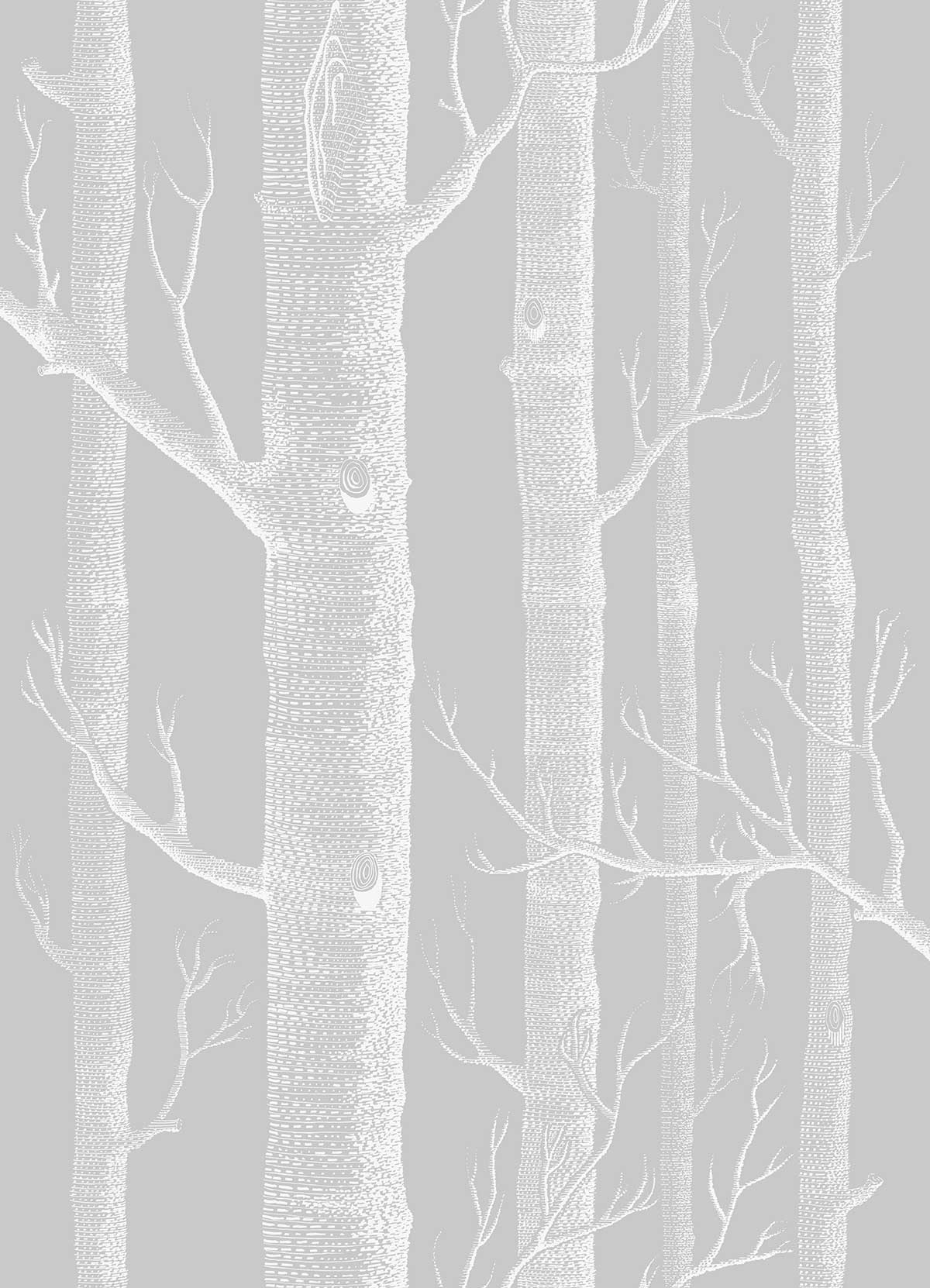 Cole & Son Woods Soft Grey Fabric - Product code: F111/7025LU