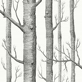 Cole & Son Woods Soot on Snow Fabric