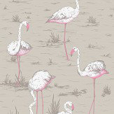 Cole & Son Flamingos Taupe Fabric