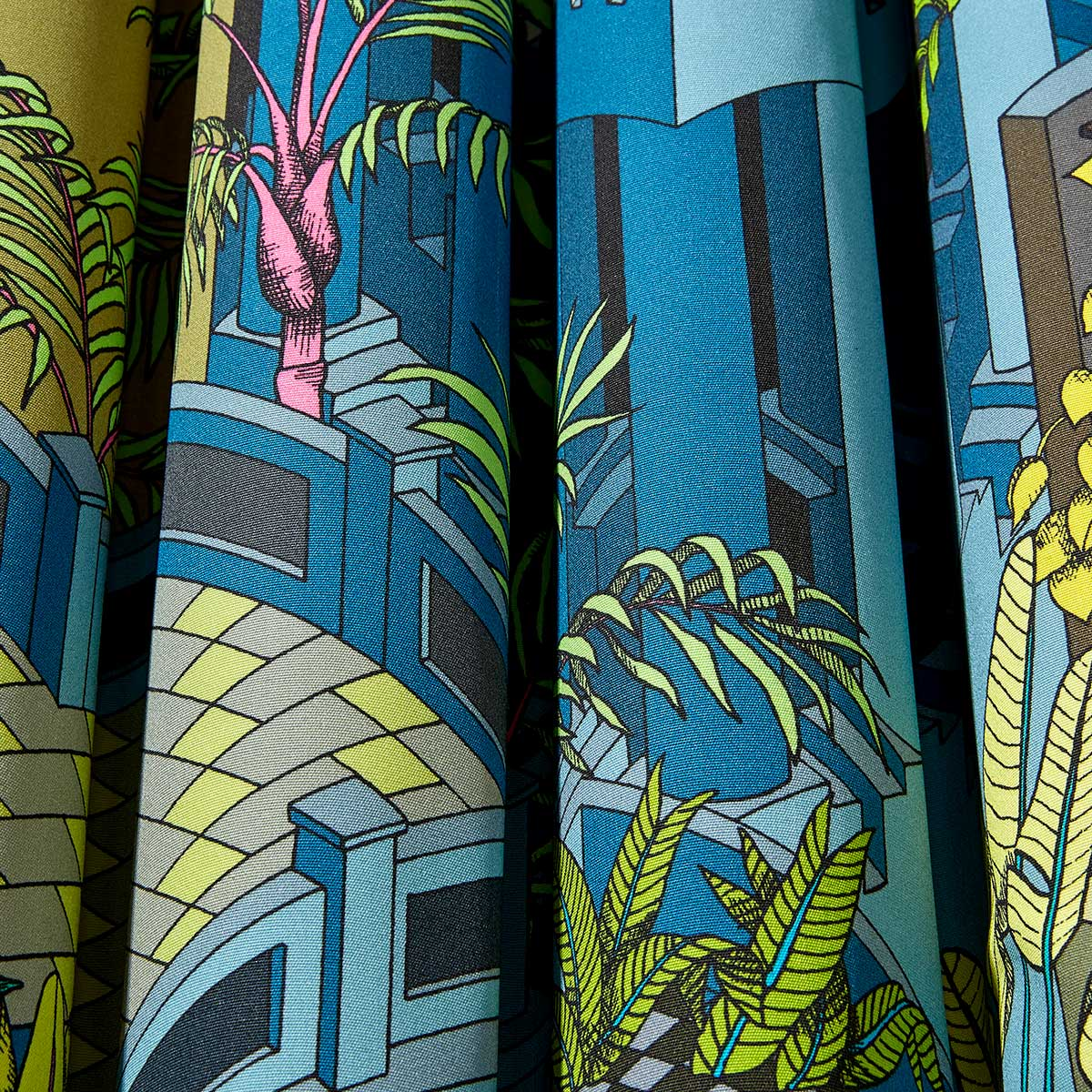 Miami Fabric - Viridian Multi - by Cole & Son