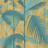 Cole & Son Palm Jungle Ochre / Petrol Fabric