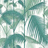 Cole & Son Palm Jungle Petrol / Snow Fabric - Product code: F111/2005