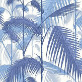 Cole & Son Palm Jungle China Blue / Snow Fabric