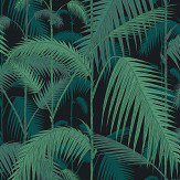 Cole & Son Palm Jungle Viridian Fabric